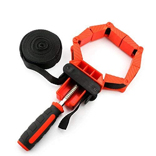 Band Strap Clamp, EnPoint Frame Clamp for Woodworking, Ratchet Band Clamp with Quick-Release Levers Corner Miter Mitre Vise Tool for Square Round Irregular Shaped Work Pieces Picture Frame Cabinet