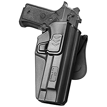 Beretta 92FS Holster OWB Holster Fit Beretta 92 FS M9 /Beretta 92 FS with Rail Taurus PT92  Not for Taurus PT92 AF/Airsoft  Polymer Paddle Holster for Outside Waistband 360 Degrees Adjustable.