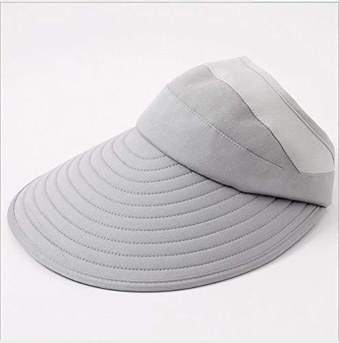 LIUWENMEI Sonnenschutzkappe, Damen Sommer Outdoor Multifunktionskappe Faltbare Mütze Geeignet Für Alle Gelegenheiten 5 Farben Optional,Gray