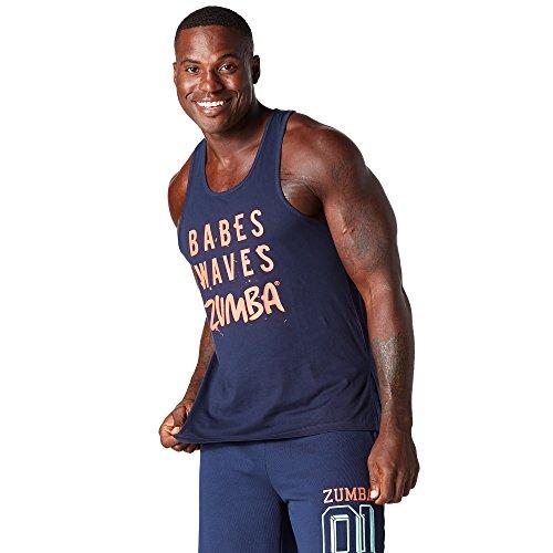 Zumba Fitness Babes Waves Tank, T-Shirt Uomo, Lets Go Indigo, XL
