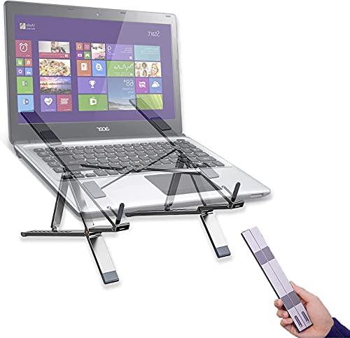 Suporte ajustable para ordenador portátil, 6+10 ajuste de altura, 80% ahorro de espacio disipación de calor soporte de aluminio,