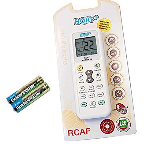 HQRP Telecomando universale compatibile con ELECTROLUX/DONGXINBAO/ELCO/ELECTER/FEDDERS/FEIEDRICH/FEIGE/FEILU ed altri condizionatori d'aria murali