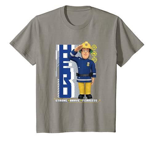Kinder Feuerwehrmann Sam T-Shirt, Held, viele Größen+Farben