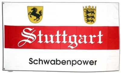 Flagge Fanflagge Stuttgart Schwabenpower - 90 x 150 cm