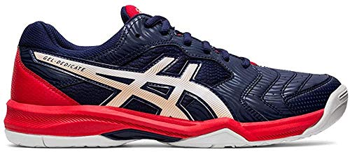 Asics Gel-Dedicate 6, Tennis Shoe Hombre, Peacoat/White, 42.5 EU