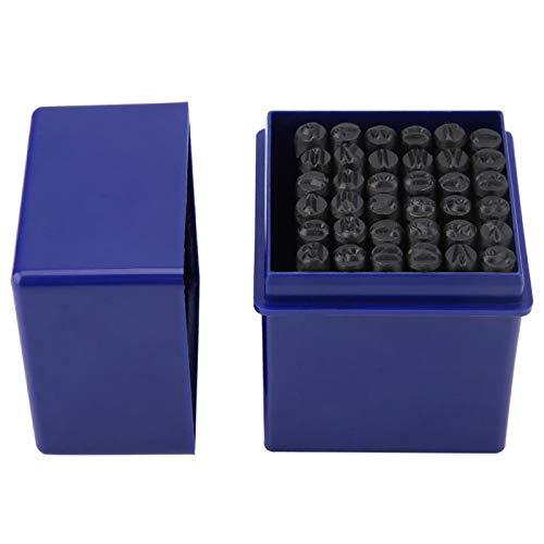 Sello de acero de acero al carbono de 5 mm, perforador de números, para papel de cuero