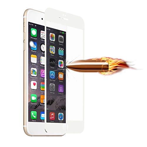 0.2mm Ultra-dunne Frosted Volledig Scherm Gehard Glas Screen Protector voor iPhone 6 & 6s Nieuwe (Zwart) Moonbaby Kleur: wit