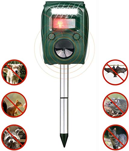 FRYZOO Ultrasonic Pest Animal Expeller Outdoor Solar Powered with Motion Sensor, Repel Cat Dog Deer Bird, Waterproof Expeller for Farm, Garden E0019
