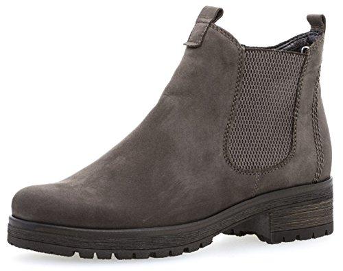 Gabor Damenschuhe 72.091.49 Damen Chelsea Boots, Stiefel, Stiefeletten, mit Reißverschluss, in Comfort-Mehrweite, mit Optifit- Wechselfußbett Grau (Vulcano (Micro)), EU 8.5
