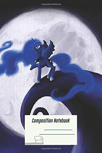 Composition Notebook: My Little Pony Mlp Nightmare Before Christmas Princess Lun Wide Rule Notebook and over 100 Ruled Pages