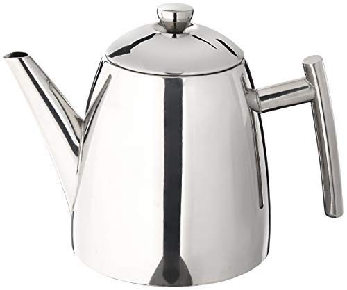 Frieling USA 18/10 Stainless Steel Teapot with Infuser, Tea Warmer with Teapot Infuser for Loose...