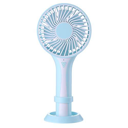 Handheld Personal Mini Fan,BCDshop Portable Desk Stroller Table Fan Cooling Battery Operated USB Electric Fans (Blue)