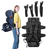 Car Seat Back Pack,Stroller Carrier with 4 PCS Detachable Straps,2-in-1,Carry Baby Seat on Shoulder or Tied to Luggage, Premium Quality Durable & Comfort,Perfect for Airplane,Journey
