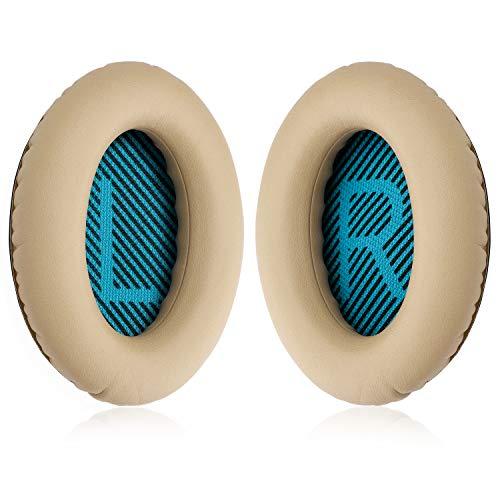 YOCOWOCO PU-Leder Ohrpolster Ersatz für Bose Quietcomfort 2/15/25/35 Ae2 Ae2i Ae2w SoundTrue Around-Ear SoundLink Around-Ear, Khaki