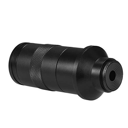 OWSOO C-Mount-Objektiv 10X-200X-Kamera Vergrößerung CCD-Industrie-Mikroskopkamera einstellbar 25mm Zoom-Okular-Lupe Industrieobjektiv für LAB-Leiterplatte