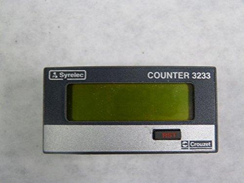 Crouzet / Syrelec 3233 87614040 LCD Totalizer Rate Meter 8-Digit 3-30V