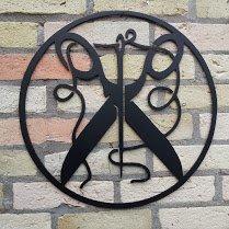 SCHNEIDER, das Zunftzeichen H=40cm-90cm aus STAHL Handwerk, Schere, Faden, Stoffe, Stahl (40cm)