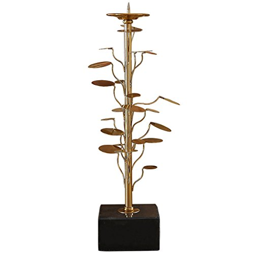 LBBD Estilo Europeo de Hojas de decoración Candlestick Candelabro de Metal Sala de decoración de Estilo Creativo de Mesa de Comedor de mármol