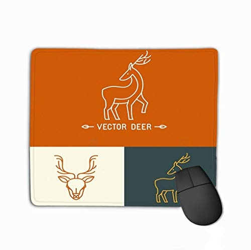 Mousepad, schattig muismat hert logo sjabloon Trendy lineaire stijl Hipster Set abstracte emblemen concepten mono lijn pictogrammen