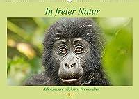 In freier Natur Affen, unsere naechsten Verwandten (Wandkalender 2022 DIN A2 quer): Gorilla, Schimpanse & Co freilebend fotografiert (Geburtstagskalender, 14 Seiten )