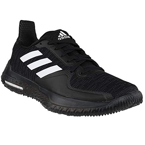 adidas Womens Fit Trainer, Black/White/Grey, 6 Medium