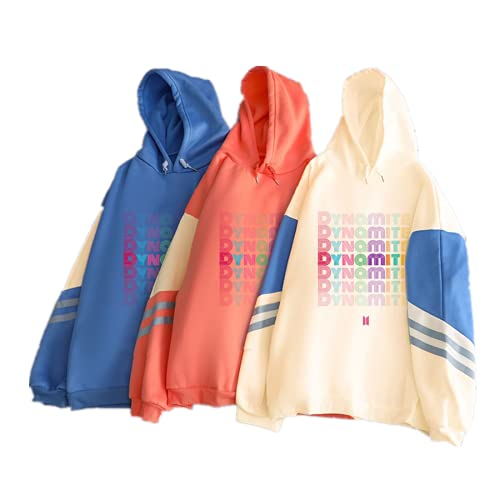 JLCYYSS KPOP B-T-S Dynamite Casual Retro Pullover Oversized Contraste Color Hoodie...