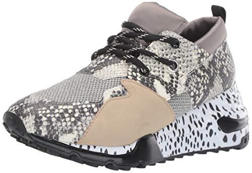 Steve Madden Women's Cliff Sneaker, Natural Snake, 11 M US