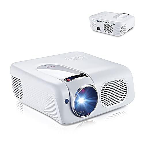 YOBDDD Proyector De Video, Proyector Portátil HD Nativo De 1080P, Compatible con 4K, Pantalla De 300'para Cine En Casa/Película Al Aire Libre 1200 Lúmenes Claros Durante El Día