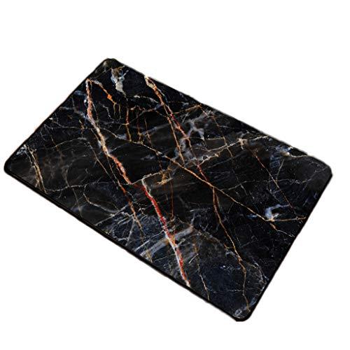 Gjfhome badmat, flanel tapijt voor thuis anti-slip absorberend zwart decoratieve huishoudelijke douche bad vloer deurmat (40 * 60cm)