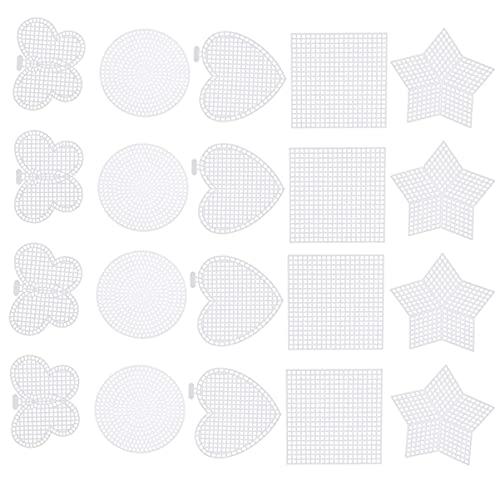 LIXBD 50 piezas de lona de plástico transparente de malla de punto...