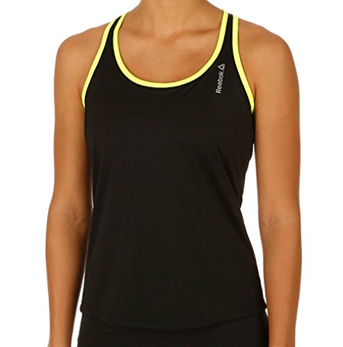 Reebok RE LBT - Camiseta para Mujer, Color Negro, Talla XS