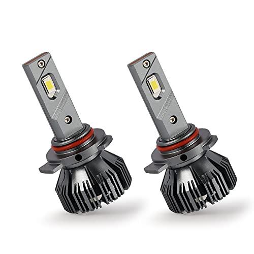 BRUYOMEI Ampoule de Phare LED H1 avec Puce de csp CANBUS Externe 6500K Cool Blanc Clair Eclairage Clair 80W