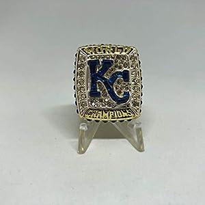 Salvador Perez #13 Kansas City Royals High Quality Replica 2015 World Series Ring Size 9.5 - Gold Colored