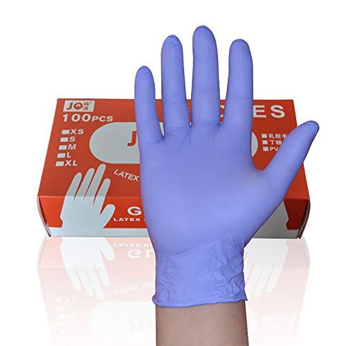 Wegwerphandschoenen, Nitril Handschoenen-Latex-Free, Geschikt voor levensmiddelen, Poedervrij, Maken, Schilderijen, Tuinieren, Koken, Schoonmaken