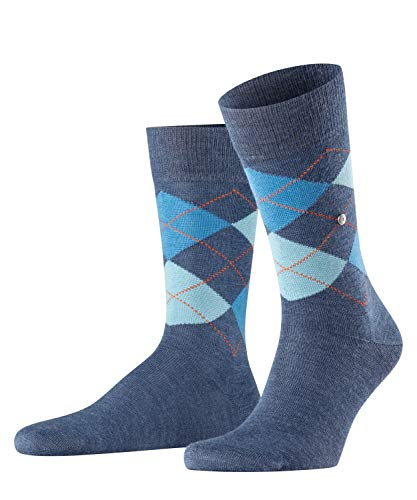 Burlington Herren Edinburgh M SO Socken, Blau (Dark Blue 6697), 40-46 (UK 6.5-11 Ι US 7.5-12)