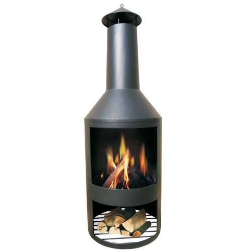 HEAT Outdoor Living Patio Stove Black Garden Fireplace Fireplace Fire Pit