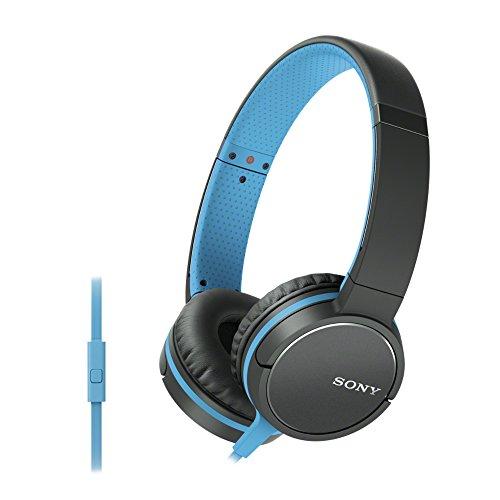 Sony MDR-ZX660AP - Auriculares supraurales de Diadema (con micrófono, Control Remoto Integrado), Azul