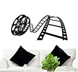 FGD Wall Decal Movie Reel 23' Tall 50' Wide in Black (Removable Wall Sticker) Brand