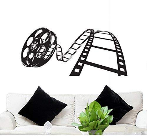 "FGD Wall Decal Movie Reel 23"" Tall 50"" Wide in Black (Removable Wall Sticker) Brand"