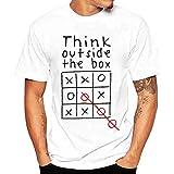 Poloshirt t Shirt T-Shirt Männer Kurzarm Bluse Brief Druck T-Shirts Shirt (3XL,Weiß)