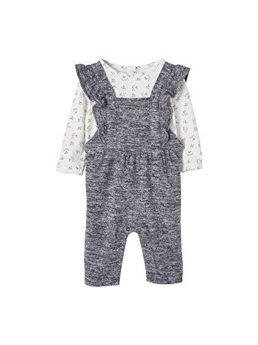 Vertbaudet Baby Mädchen T-Shirt + Overall Gr. 3 Monate, Elfenbein bedruckt