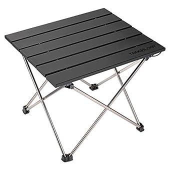 小型折りたたみ式キャンプテーブル ポータブルビーチテーブル – 折りたたみ可能なピクニックテーブル バッグ入り – ミニアルミサイドテーブル 軽量キャンプテーブル アウトドア料理 バックパック RV折りたたみ 旅行に