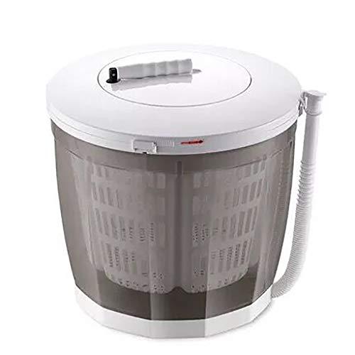 PLHMS Tragbare Handkurbeln Manuelle Kleidung Nicht-Elektro-Waschmaschine und Wäscheschleuder, Camping Theken Waschmaschine, Mini Compact Wäscheschleuder, für Studentenwohnheime,Grau