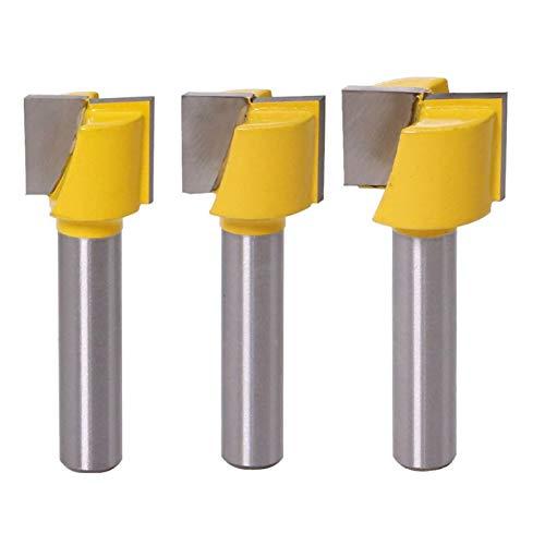Baorder Baorder - Juego de fresas para limpieza de suelos, 3 unidades, 8 mm, metal duro, herramientas de carpintería, puntas 16/18/20 mm