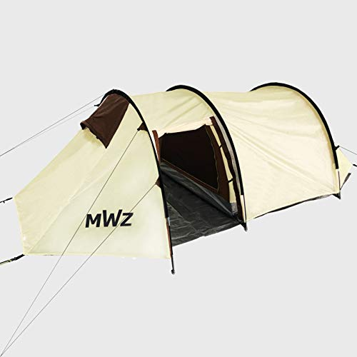 MWZ Large Camping Tent, Double Layer Tunnel Tent,Idea for Family Tent or Party Tent