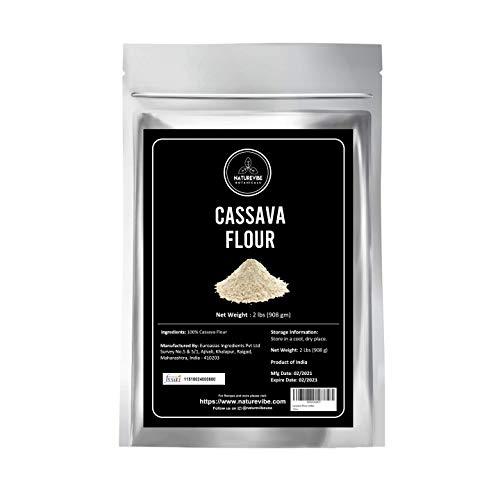 Naturevibe Botanicals Organic Cassava Flour, 2lbs | Non-GMO and Gluten Free