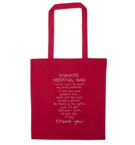 Flox Creative Tragetasche Mama Krankenhaus-Tasche Bruder Gedicht, Rot - rot - Größe: Einheitsgröße