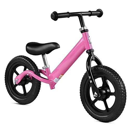 LHQ-HQ Bicicletas Niños Niños de equilibrio de bicicletas de 12' Balance de bicicletas for los niños y niños pequeños sin pedal antideslizante manillar ajustable del asiento a pie Bicicletas Deporte F