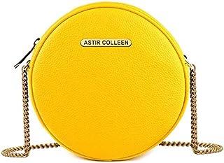 ASTIR COLLEEN Women's & Girl's Sling Bag - Round Plain (Yellow)
