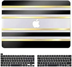 JGOO Funda para MacBook Pro 13 Pulgadas 2020-2016 Versión A2338 M1 A2289 A2251 A2159 A1989 A1706 A1708, 3D Stripes Carcasa...